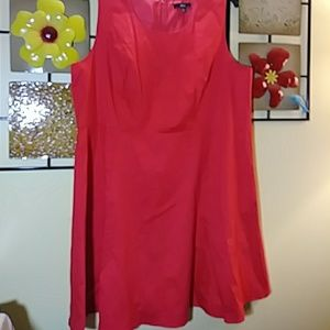 Ellos red tailored & lined dress NWOT